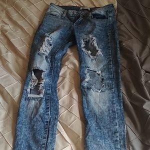 Distressed Cello Jeans
